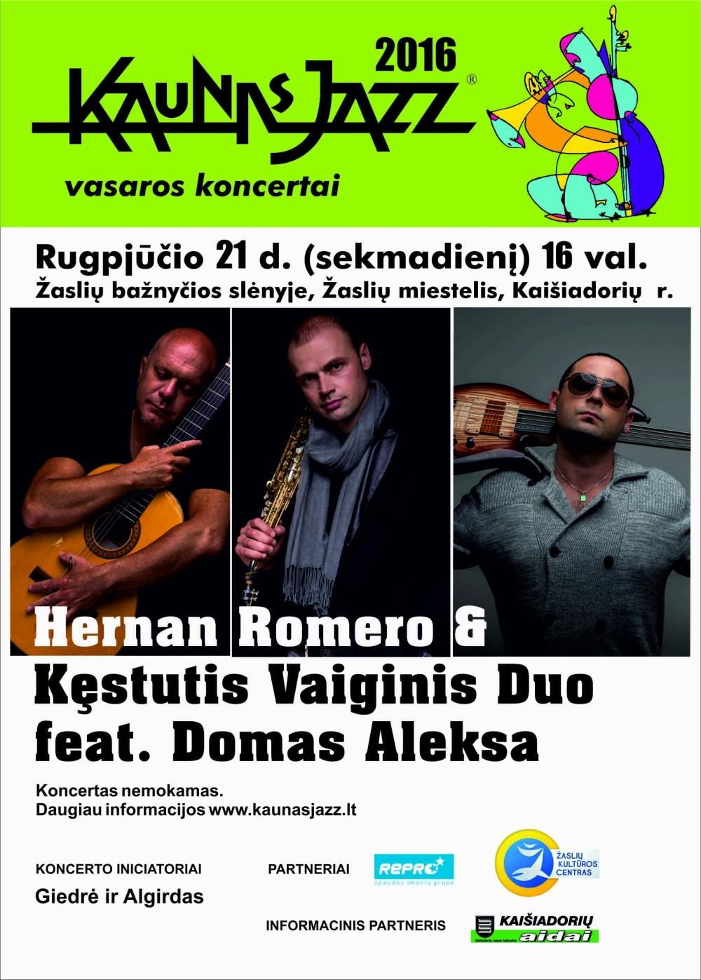 Kaunas Jazz 2016 vasaros koncertai