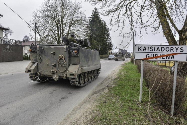 Kaišiadorių rajone vyksta Kunigaikščio Vaidoto bataliono karių pratybos