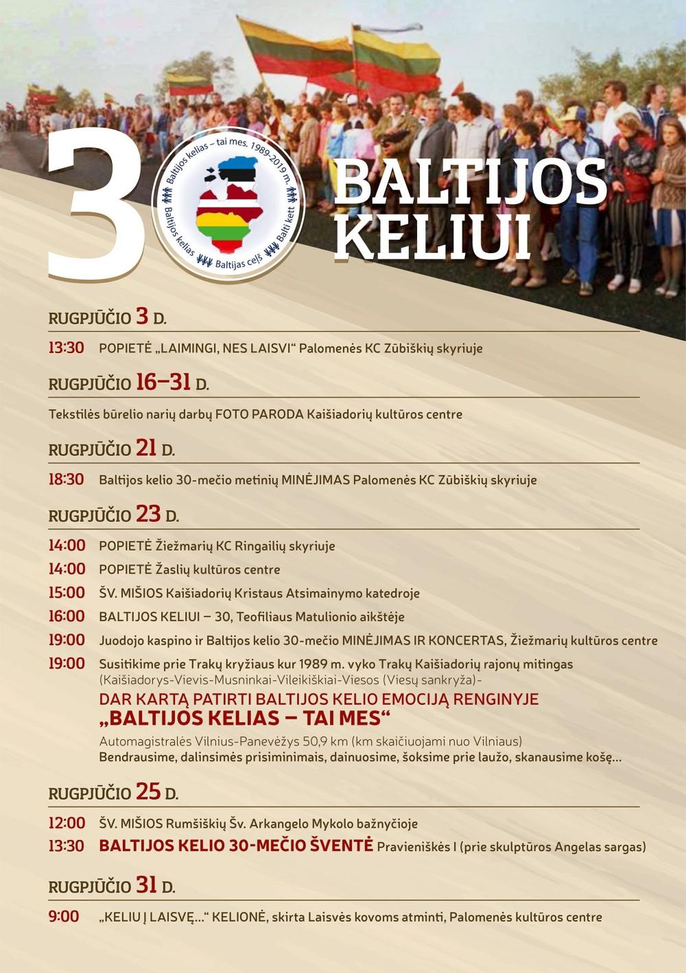 Baltijos keliui - 30