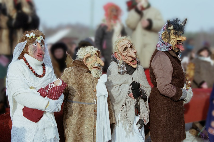 Tikros Užgavėnės Rumšiškėse šaukiasi žiemos
