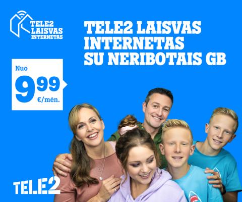 """Nauji """"Tele2"""" pasiūlymai: nuolaidos neribotam internetui ir galimybė laimėti puikius prizus"""