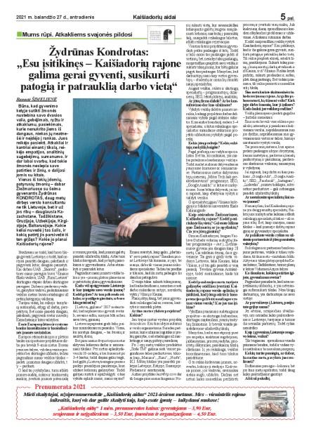 """Žydrūnas Kondrotas: ,,Esu įsitikinęs – Kaišiadorių rajone galima gerai gyventi, susikurti patogią ir patrauklią darbo vietą"""""""